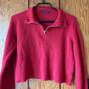 Brandy Melville zip up collared sweatshirt
